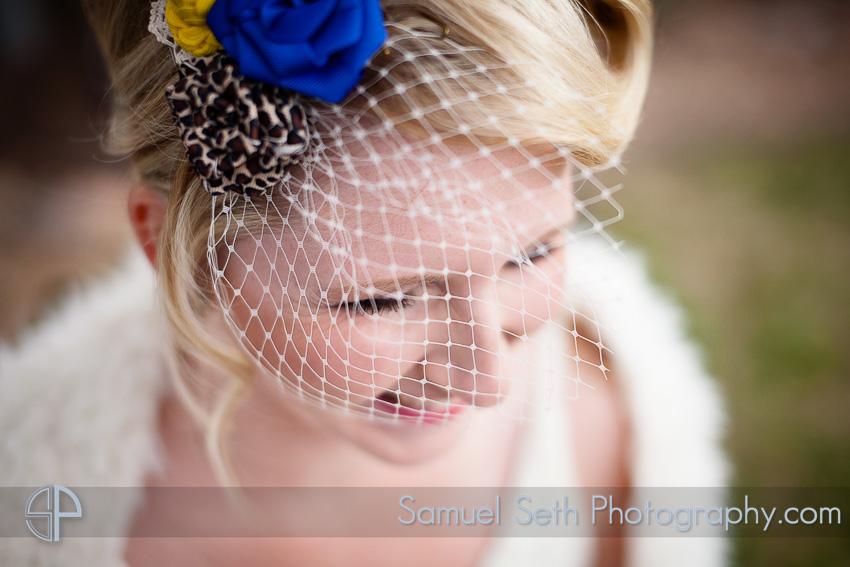 Spring, Texas Wedding Photography - Birdcage Veil