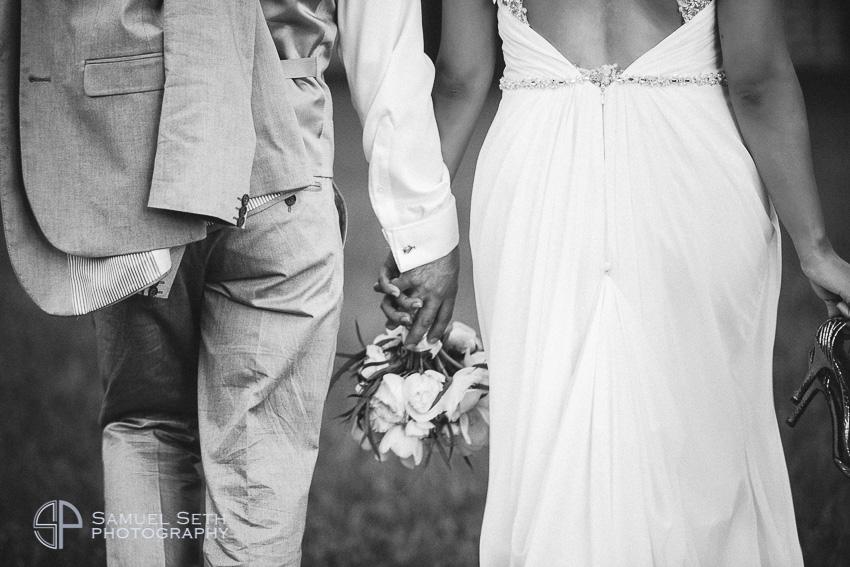 Newlywed Couple Black & White