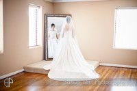 Bride Looking in Mirror The heights villa