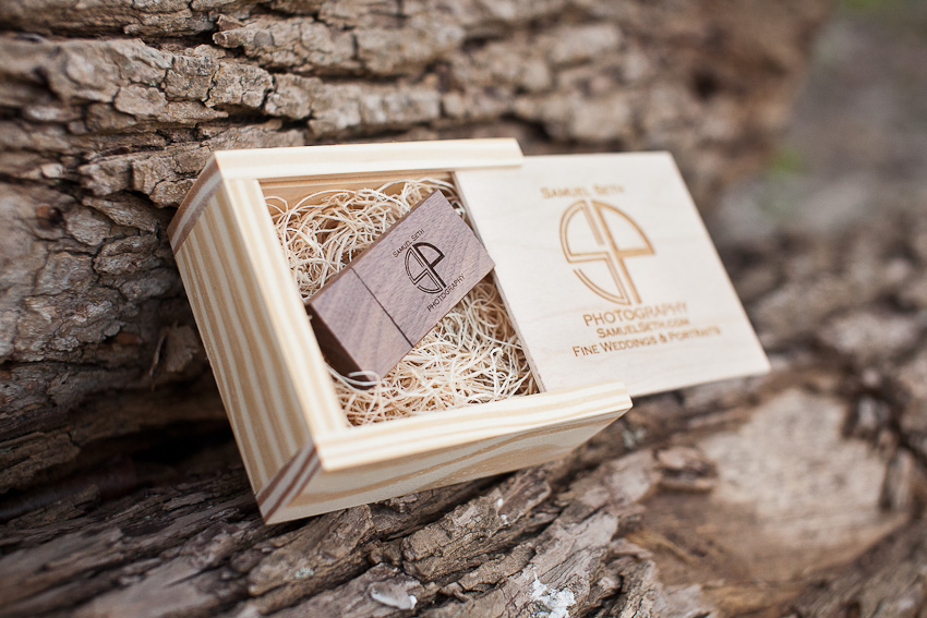 Custom Engraved Wedding USB Drive