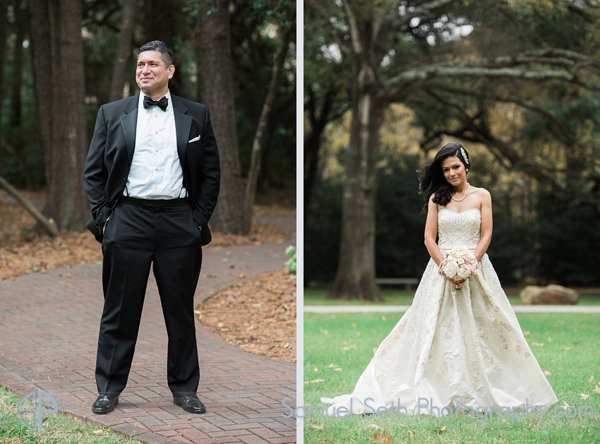 Bride and groom Portraits at Houstonian